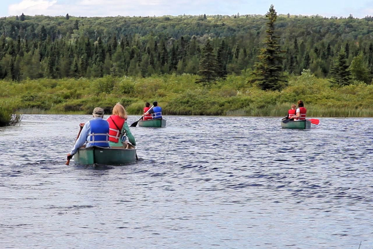 Canoeing on the Poplar River