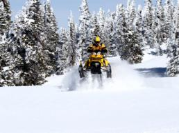 Snowmobiling on the North Shore